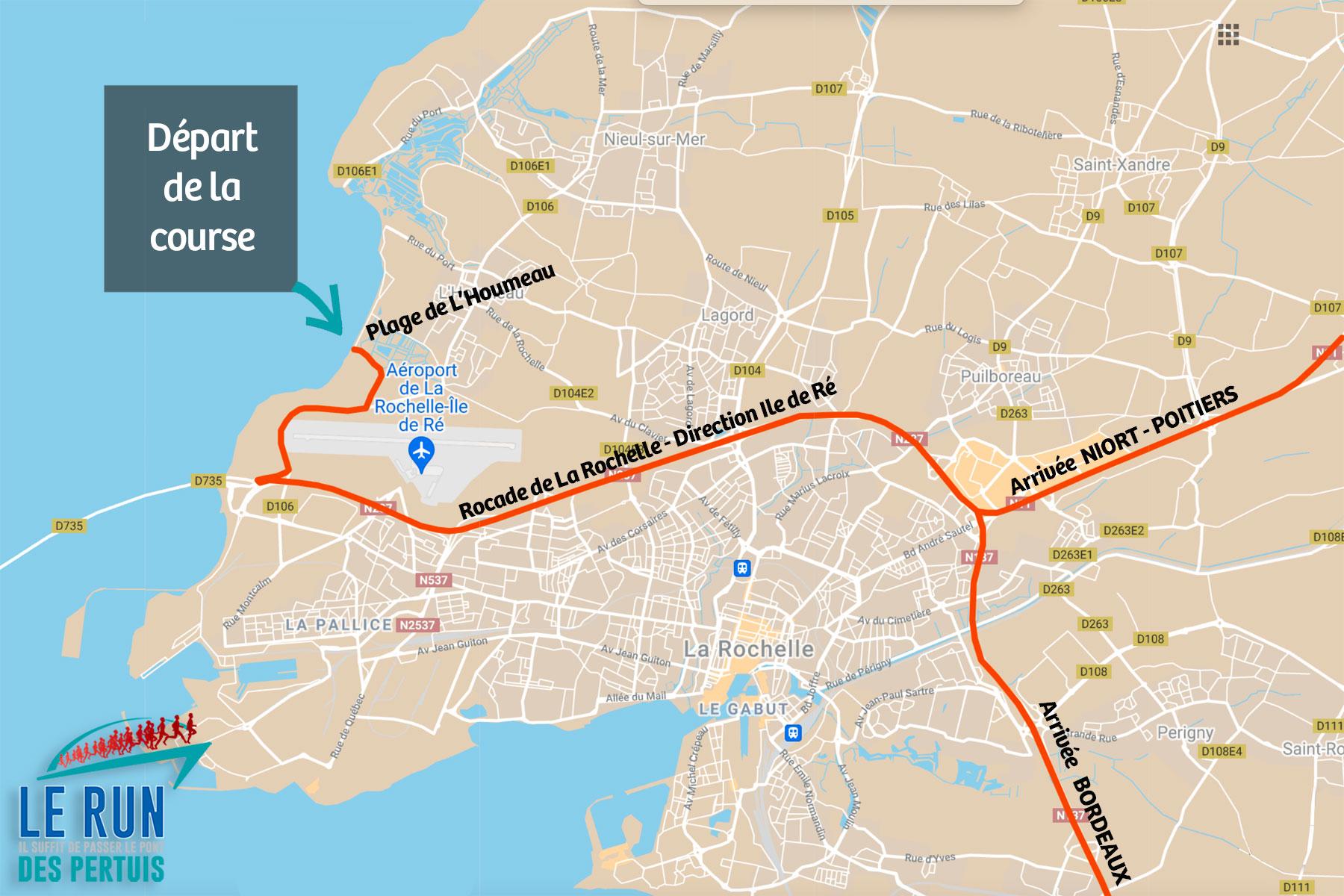 Accès La Rochelle Course Run des Pertuis